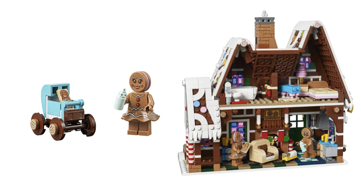 This LEGO Gingerbread House Has 1,477 Pieces Of Pure Winter Magic
