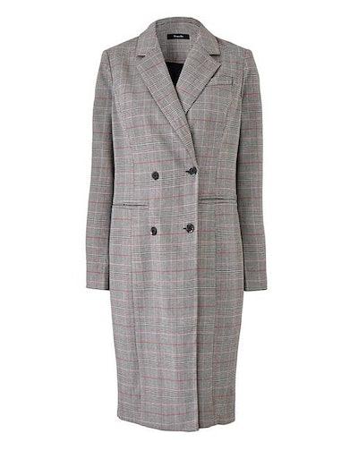 Grey Check Longline Blazer