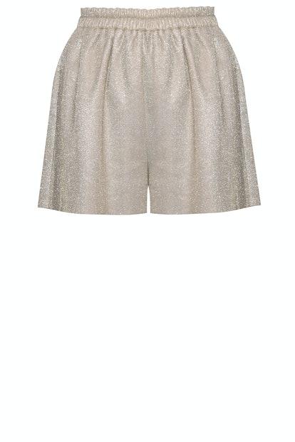 Cream Shimmery Shorts