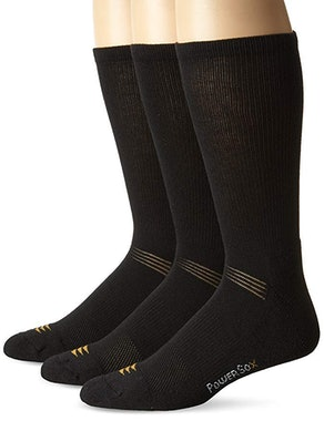 PowerSox Men's Cushion Crew Socks With Coolmax (3-Pack)