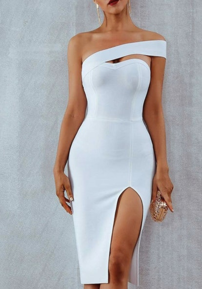 ALAMOSA ONE-SHOULDER BODYCON DRESS