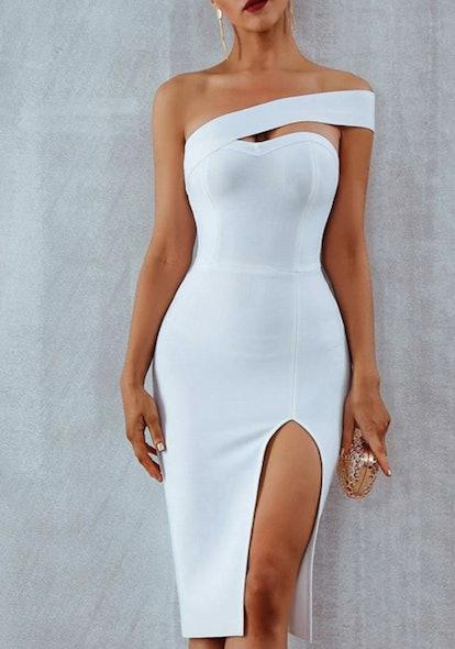 ALAMOSA ONE-SHOULDER BODYCON DRESS