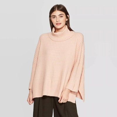 Prologue 3/4 Sleeve Turtleneck Pullover Sweater
