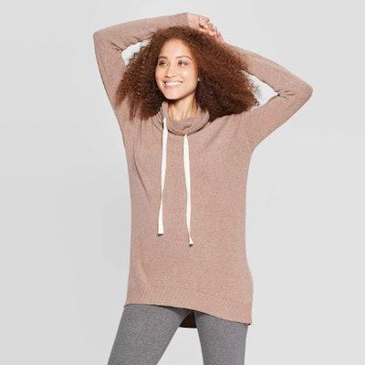A New Day Long Sleeve Rib-Knit Cuff Cowl Neck Sweatershirt