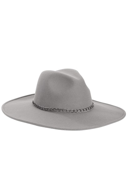 Scoop Wide Brim Fedora with Chain