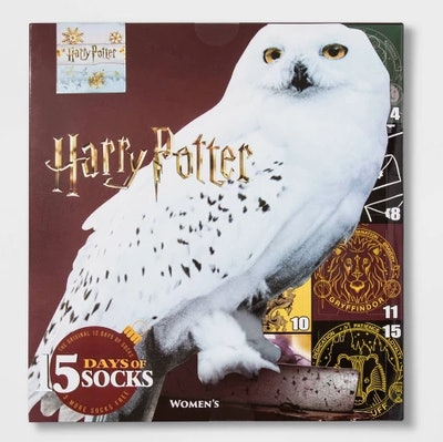 Women's Harry Potter Owl 15 Days of Socks Advent Calendar - Colors May Vary One Size