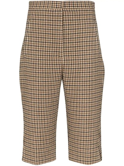Brown Checked Ruby Short