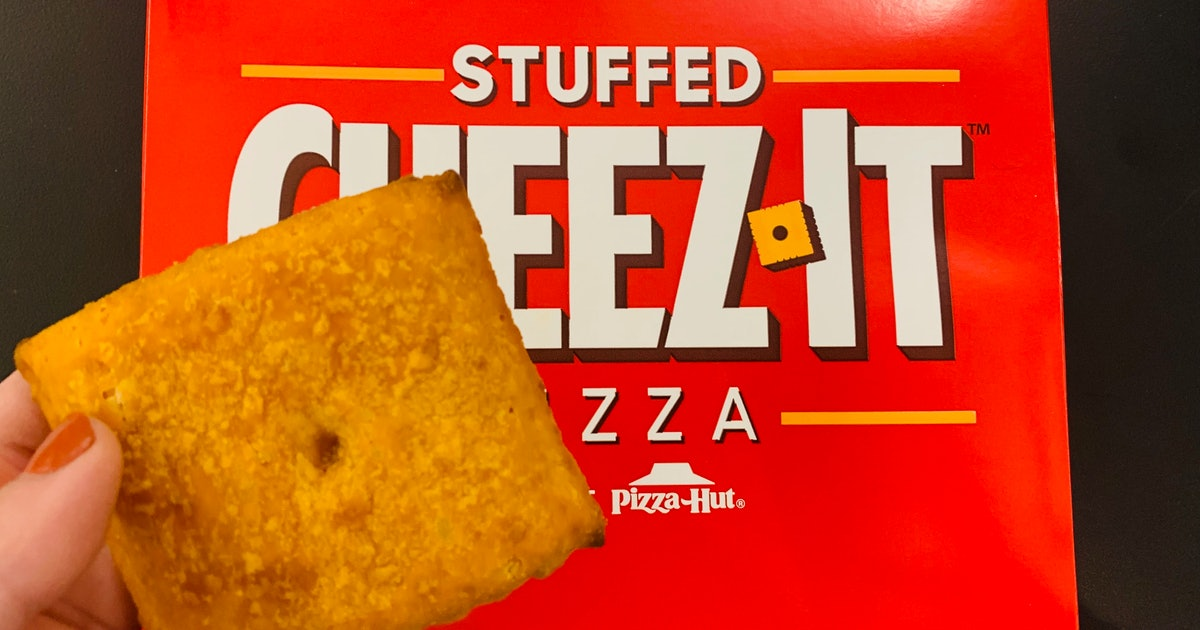 Pizza Hut's Stuffed Cheez-It Pizza Will Make Cheese Lovers Swoon