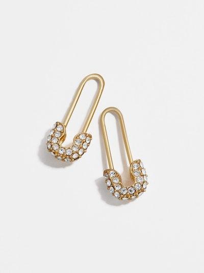 Charmian 18k Gold Vermeil Safety Pin Earrings