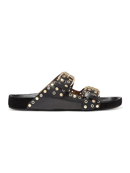 Lennyo Studded Leather Slides