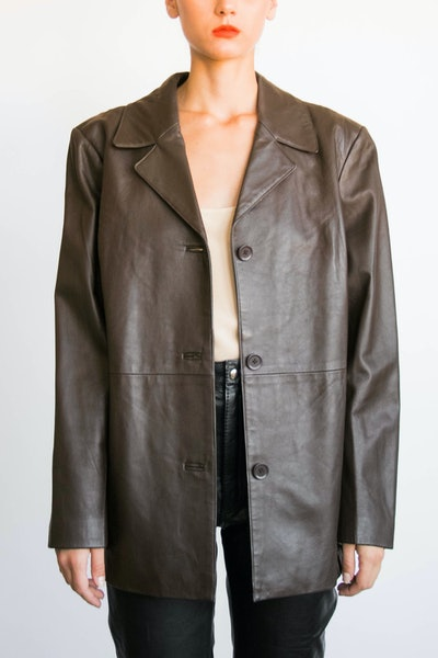 Vintage Espresso Leather Jacket