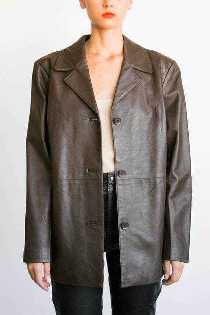 Vintage Espresso Leather Jacket