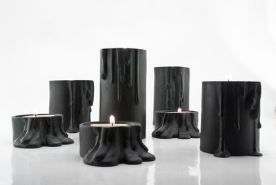 "Modern Ceramic Candleholder - 4.5"""