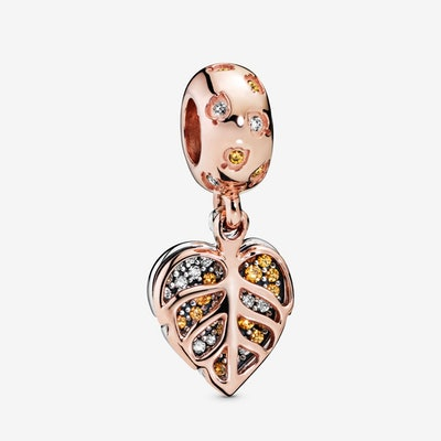 Sparkling Leaves Dangle Charm