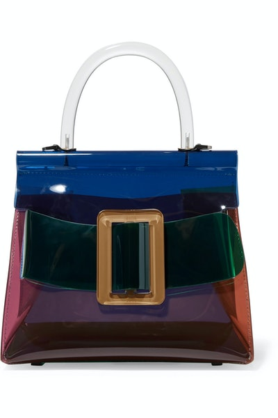 Karl Color-Blocked PVC Bag