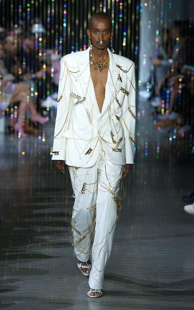 Chain-Embellished Blazer