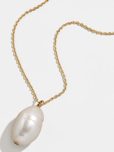 Daisy Pearl Pendant Necklace