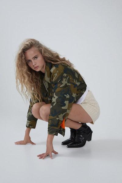 Zara Cropped Camouflage Jacket