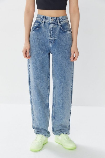 Denim Baggy High-Waisted Jeans