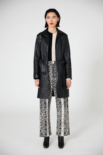 Ann Leather Coat