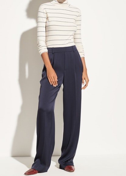 Wide-Leg Pull-On Trousers