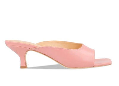 Kosara Pink Leather Mules