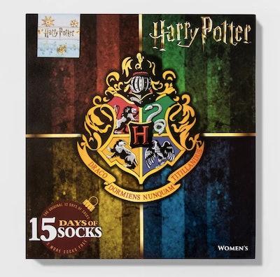 Women's Harry Potter Hogwarts Crest 15 Days of Socks Advent Calendar