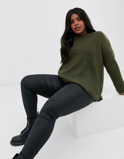 Only Curve Rib Knitted Sweater