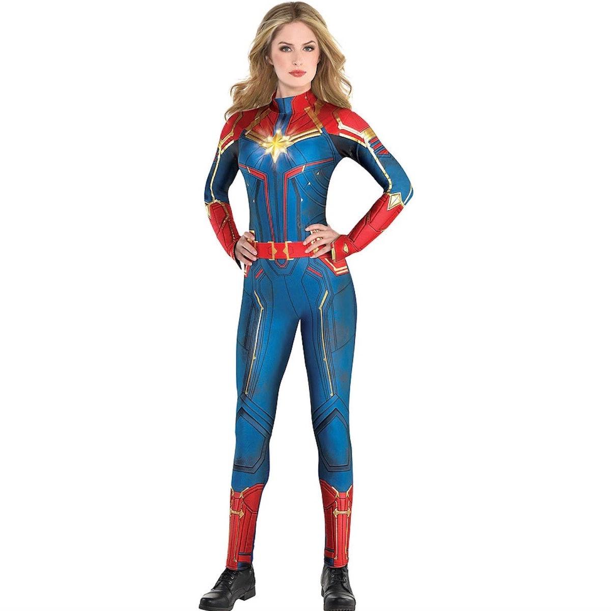 Adult Light-Up Captain Marvel Costume - Captain Marvel