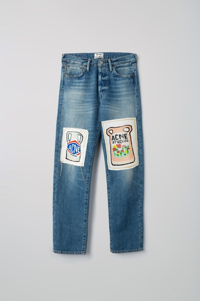 Ceramic-Patch Jeans Mid Blue