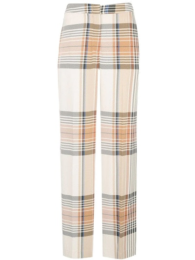 Plaid Print Trousers