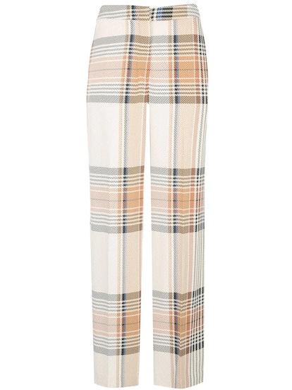 Plaid Print Trousers