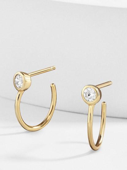Mezzo 18k Gold Vermeil Huggie Hoop Earrings