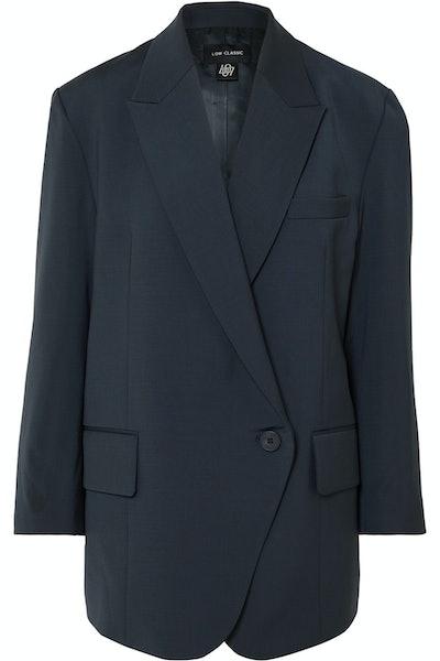 Oversized Woven Blazer