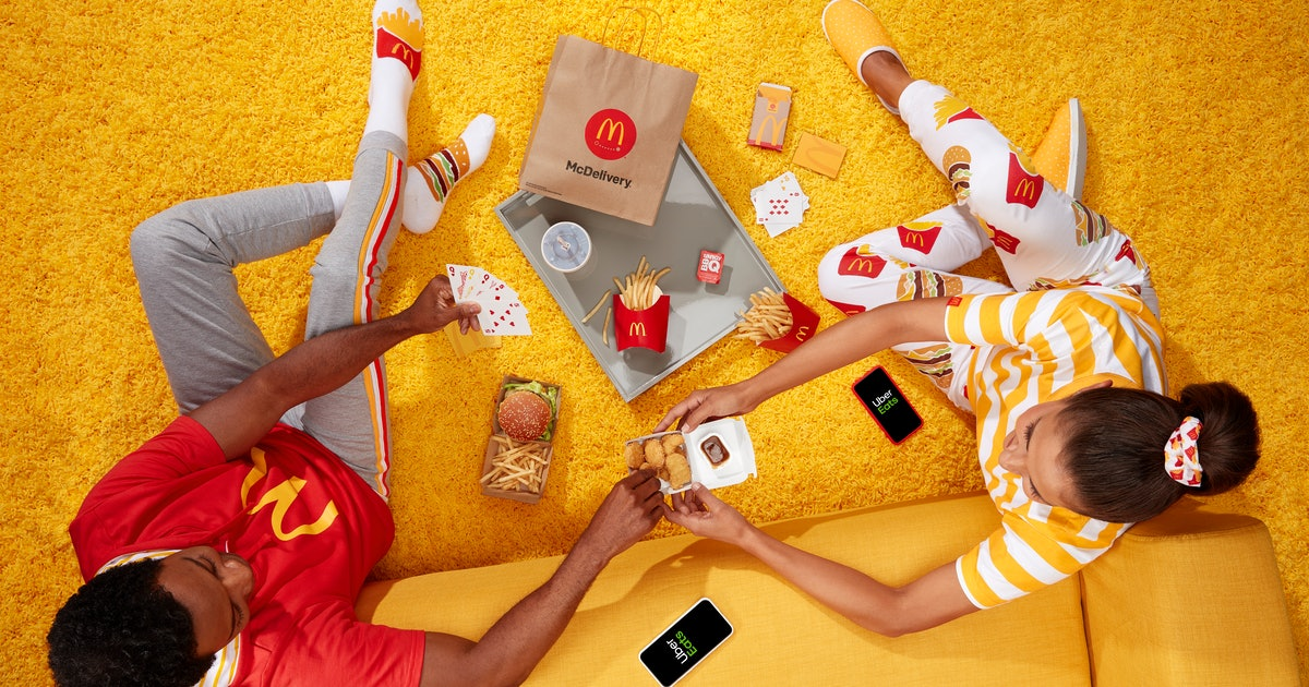 McDonald's McDelivery Night In Merch For 2019 Features Big Mac- & Fry- Themed Socks