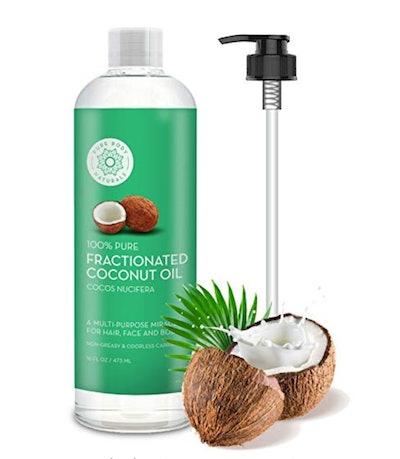 Pure Body Naturals Fractionated Coconut Oil (16 Fl Oz)