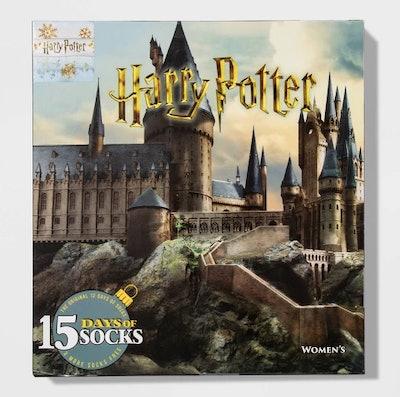 Women's Harry Potter Castle 15 Days of Socks Advent Calendar - Assorted Colors One Size