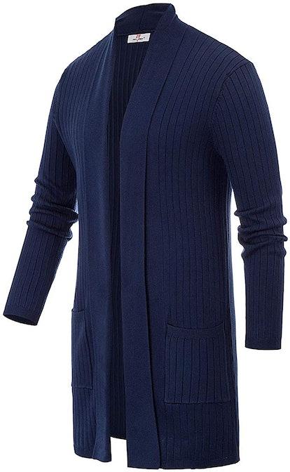 Men's Long Sleeve Cardigan Sweater