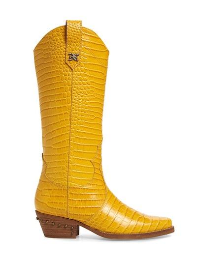 Oakland Croc Embossed Western Boot
