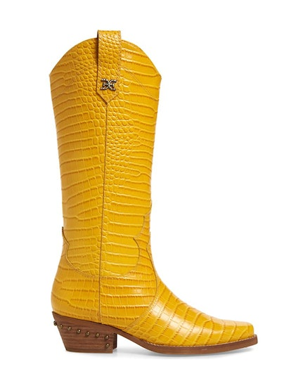 Oakland Croc Embossed Western Boot