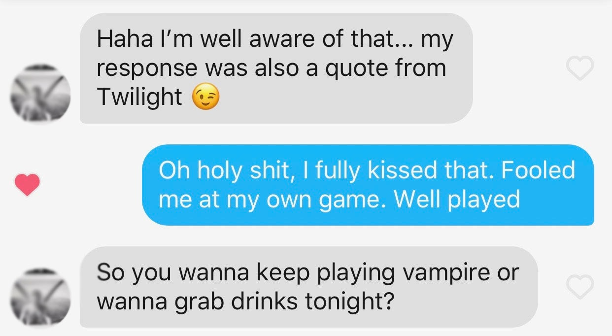 I Sent Twilight Quotes To My Tinder Matches Heres What