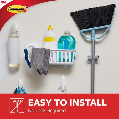 Command Broom & Mop Grippers (2 Pack)