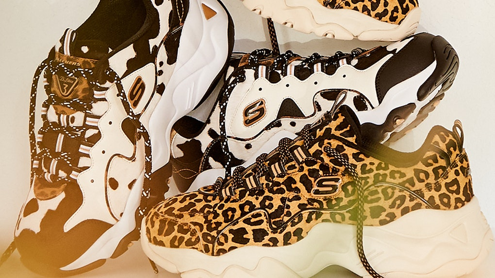 The New Skechers D Lites 3 0 Styles Give Animal Print A Fashion