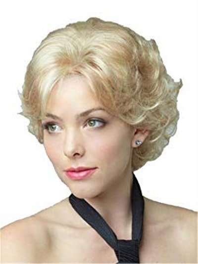 OYSRONG Very Beauty Elegant Women Short Golden Wavy/curly Layered Heat Resistant Daily Hair Wig