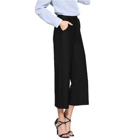 Tsful Wide-Leg Pull-On Dress Pants