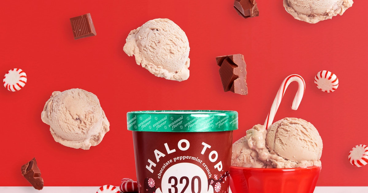 Halo Top's Vegan Chocolate Peppermint Crunch Ice Cream Is A Dairy-Free Taste Of Christmas