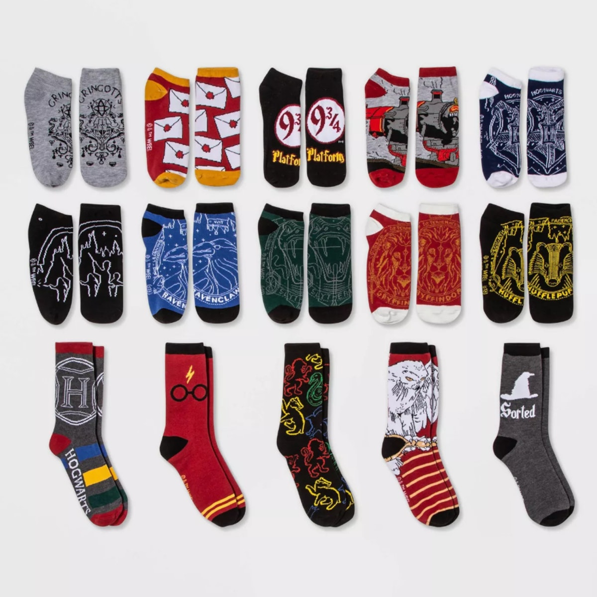 Harry Potter Owl 15 Days of Socks Advent Calendar