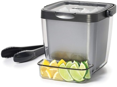 OXO Good Grips Double-Wall Ice Bucket with Tongs & Garnish Tray