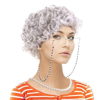 Old Lady Costume Set-Grandmother Wig