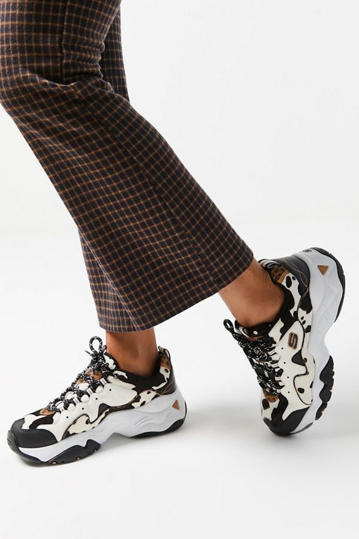 Skechers UO Exclusive D-Lites 3 Cow Print Sneaker